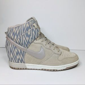 Nike Dunk Sky High Wedge Print Sneakers Sz 9.5